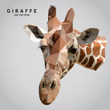 Giraffe Low Poly Stock Image