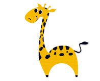 Giraffe made ​​out of paper Royalty Free Stock Image