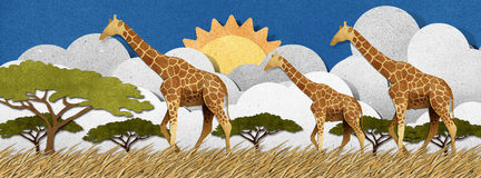 Free Giraffe Made From Recycled Paper Background Royalty Free Stock Photography - 28345587