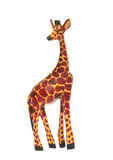 Giraffe make from wood. On a white background Stock Photo