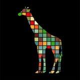 Giraffe mammal color silhouette animal Stock Photos
