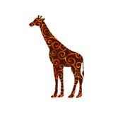 Giraffe mammal color silhouette animal Royalty Free Stock Photos