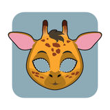 Giraffe mask for festivities stock illustration