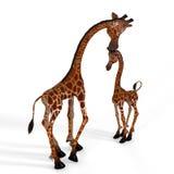 Giraffe mignonne avec un visage drôle - beau Photo libre de droits