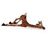 Giraffe mignonne avec un visage drôle - beau Photographie stock libre de droits