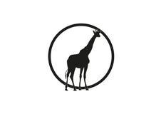 Giraffe minimal vector illustration Royalty Free Stock Photo