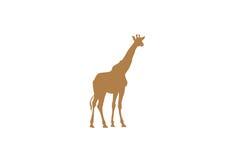 Giraffe minimal vector illustration Royalty Free Stock Photos