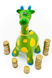 Giraffe Money-box Royalty Free Stock Images