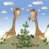 Giraffe in the North. Royalty Free Stock Photo