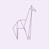 Giraffe Origami διανυσματική απεικόνιση