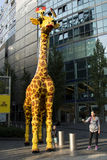 Giraffe outside LegoLand in Berlin Royalty Free Stock Image