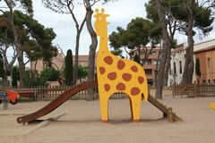Giraffe in a park Royalty Free Stock Image