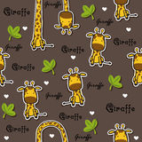 Giraffe pattern Stock Photography