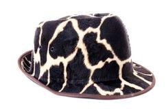 Giraffe pattern men hat Stock Image