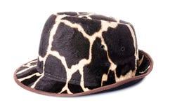 Giraffe pattern men hat Royalty Free Stock Image