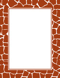 Giraffe print border Stock Photos