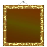 Giraffe print frame Royalty Free Stock Photo
