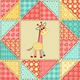 Giraffe quilt pattern Stock Image