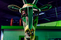 Giraffe Robot. Exposed by Grand Cosmos – The Robot Zoo starting February 27 to April 27, 2014 at Baneasa Shopping City Bucharest royalty free stock photo