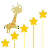 Giraffe's dream Stock Images