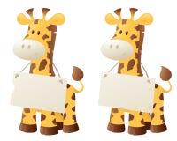 Giraffe Says Stock Image