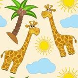 Giraffe. Seamless. Stock Photos