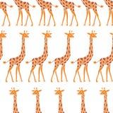 Giraffe - seamless pattern. Cute animals on a white background. Stock Photography