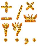 Giraffe set of signs Stock Image