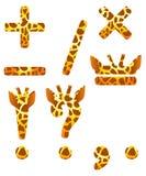Giraffe set of signs. Giraffe set of isolated signs Stock Image