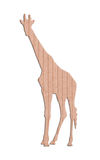 Giraffe shape paper box Stock Photography