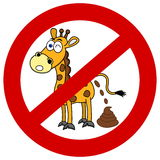 Giraffe with shit in signaling panel Royalty Free Stock Photos