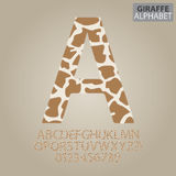 Giraffe Skin Alphabet and Numbers Vector Royalty Free Stock Photography