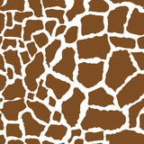 Giraffe skin seamless pattern. African animals concept endless background, repeating texture. Vector illustration. Royalty Free Stock Photography