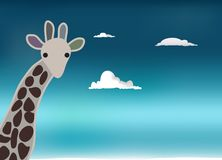 Giraffe sky Stock Photography