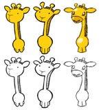 Giraffe stellte 01 ein Lizenzfreies Stockfoto