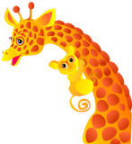 Giraffe and tarsier Stock Images