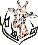 Giraffe tattoo Royalty Free Stock Photo