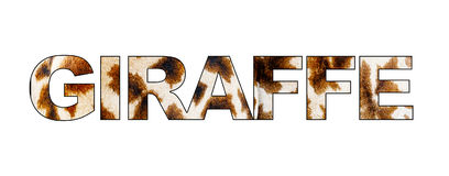 Giraffe Text With Pattern Royalty Free Stock Photo