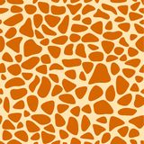 Giraffe skin texture, seamless pattern, repeating the orange and yellow spots, background, Safari, zoo, jungle. Vector. Royalty Free Stock Images