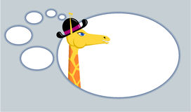 Giraffe with think bubble Royalty Free Stock Photography