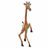 giraffe toon бесплатная иллюстрация