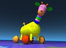 Giraffe, Toy, Wheel, Colors Stock Photo