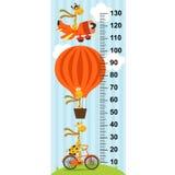 Giraffe on transport height measure- vector illustration, eps Royalty Free Stock Photo