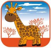 Giraffe vector hand drawn Stock Image