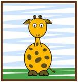 Giraffe Vector Illustration. Cute Giraffe Vector Cartoon of  Illustration Stock Image