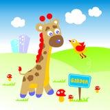 Giraffe. Vector for wallpaper wall Stock Photos