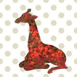 Giraffe von geometrischen Formen Polygonale Grafiken Stockfotos