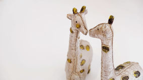 Giraffe on white background. Abstract of love Royalty Free Stock Images