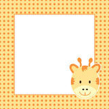 Giraffe and white paper Stock Image