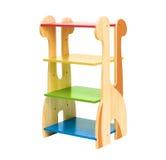 Giraffe wooden toy shelf stock photo